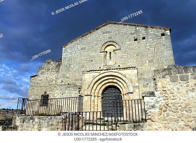 Romanesque chapel of San Frutos in Hoces del Duraton Natural Park  Segovia province  Castilla y Leon  Spain