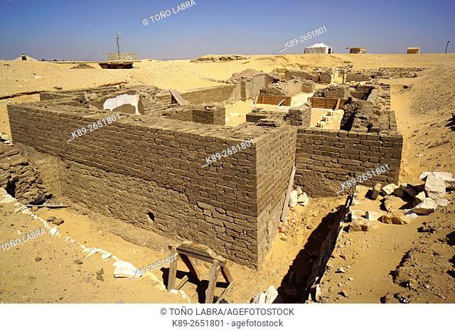 Temple Tombs of Horemheb. Saqqara necropolis. Lower Egypt
