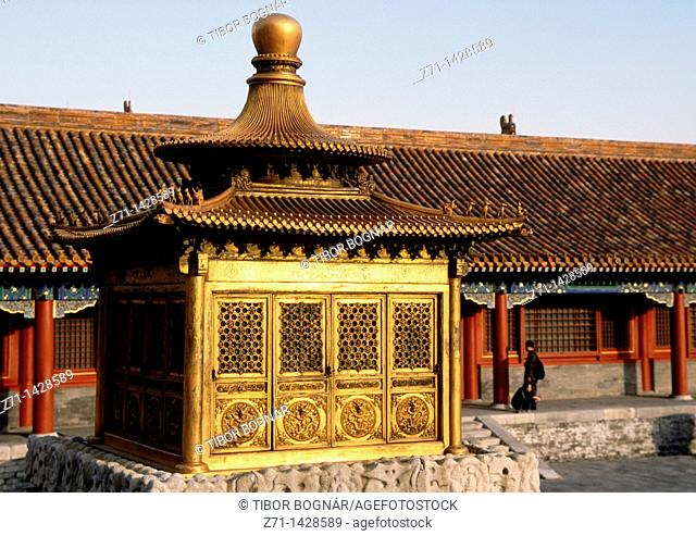 China, Beijing, Forbidden City, courtyard, pavilion
