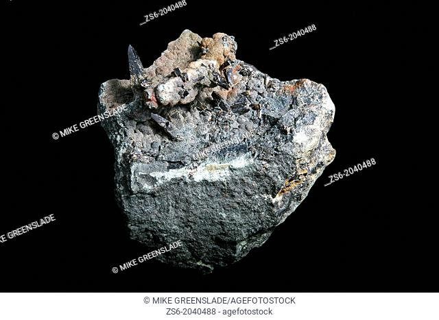 Cassiterite cyrstals,