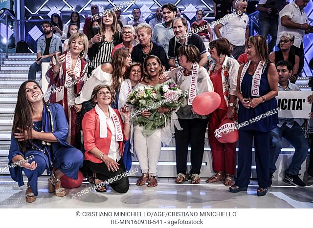 The singer Romina Power with a group of fans during the tv show Domenic In, Rome, ITALY-16-09-2018