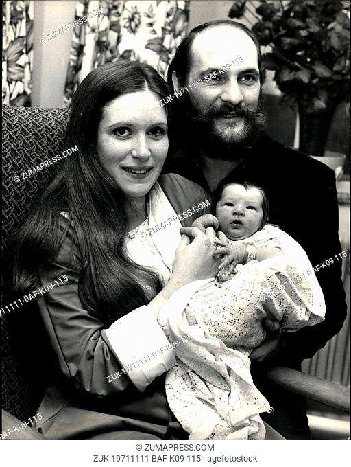 Nov. 11, 1971 - A son for Moody Blue Mike Pinder and His wife.; Donna, 20-year-old American born wife of Moody Blues members Mike Pinder gave birth to their...