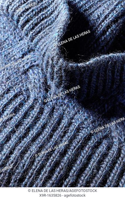 Detail of a blue sweater