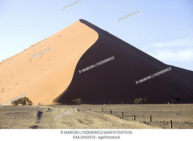 A dune of Namib desert, Soussuvlei, Namib-Naukluft National Park, Namibia