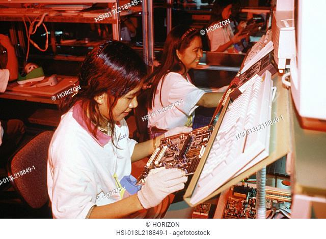 Industry, Manufacturing, Computer manufacture, Mother-board assembly, Philippines