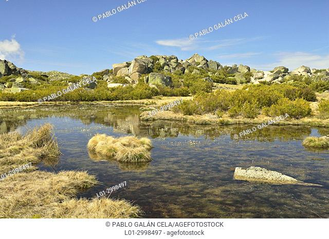 Small lakes in Serra da Estrela. Portugal