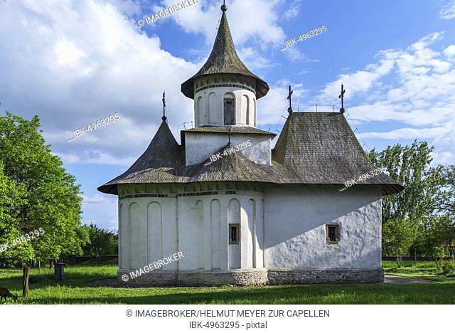 Church of the Exaltation of the Cross, 15th century, Vltava Monastery, Patrauti, Gura Humorului, Romania, Europe