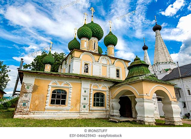 UGLICH, RUSSIA - JUNE 17, 2017: Facade of the Church of the Beheading of John the Baptist. Built in 1681