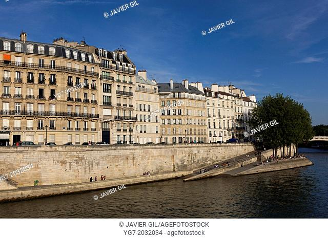 The Saint Louis Island, Paris, Ile de France, France