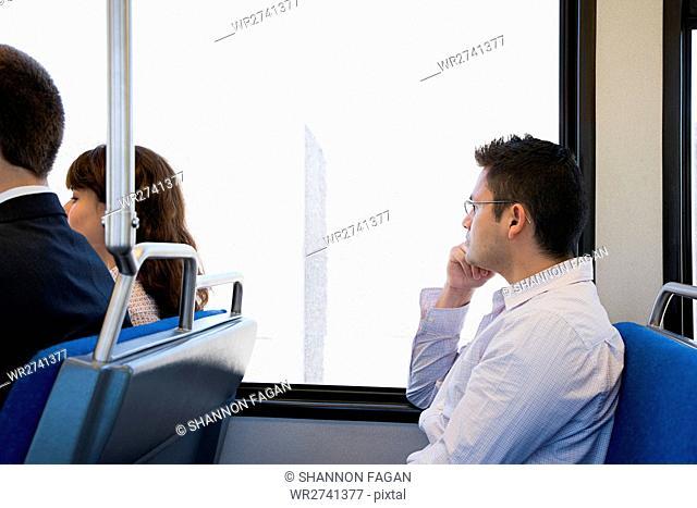People on train