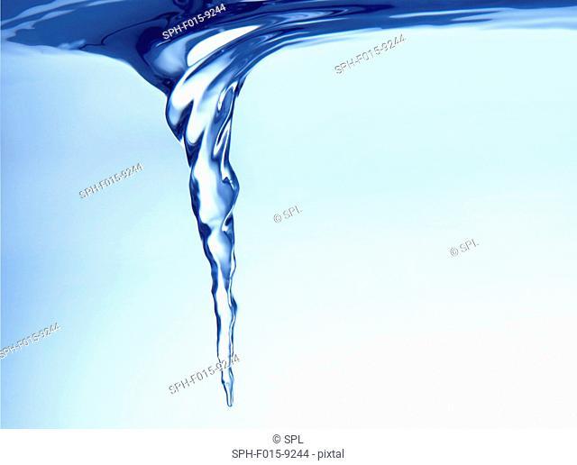 Vortex forming in water