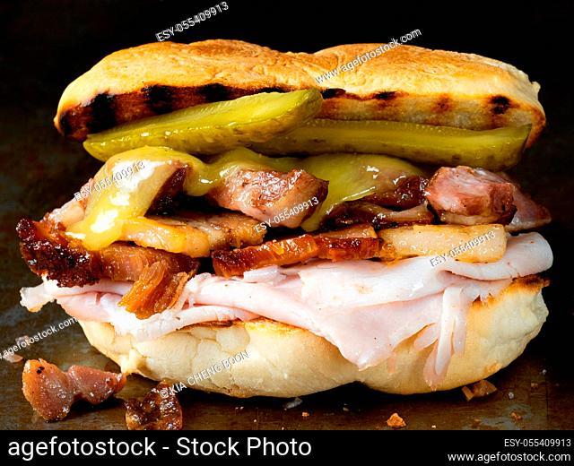 pork, sandwich