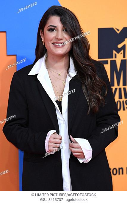 Alba Paul Ferrer attends 2019 MTV Europe Music Awards (EMAs) at FIBES Conference and Exhibition Centre on November 3, 2019 in Sevilla, Spain