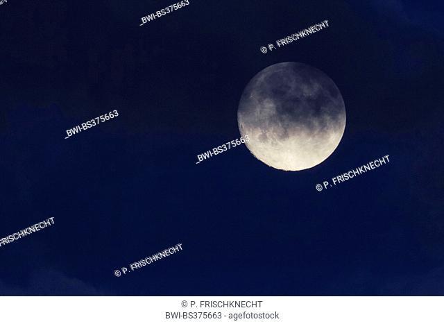 night of a full moon, United Kingdom, Scotland