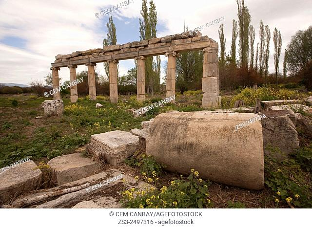 Stone temple in the ancient ruins of Aphrodisias, Aydin Province, Aegean Coast, Turkey, Europe