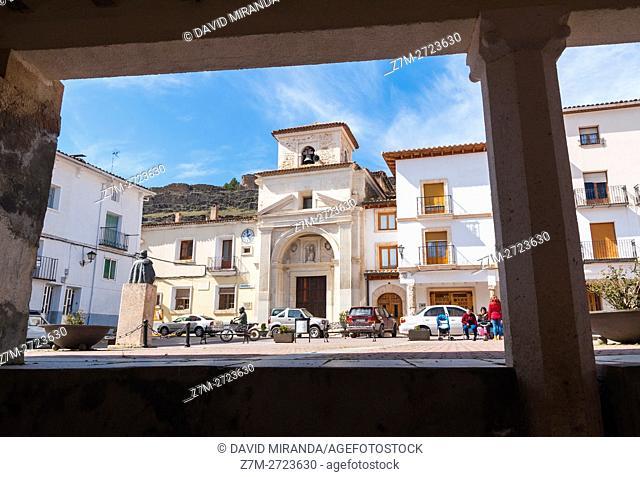 Plaza de Cañete, Cañete Main Squre, Cuenca province, Castile la Mancha, Spain. Historic and Artistic Heritage