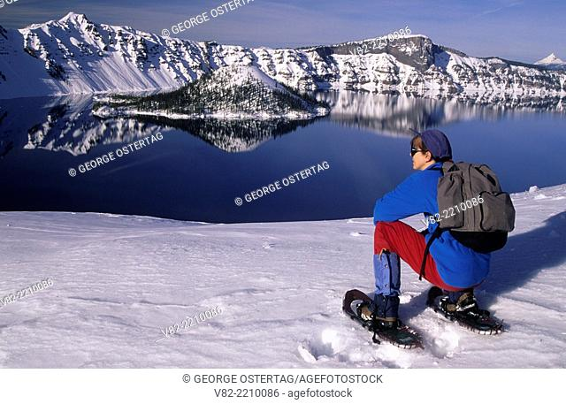 Wizard Island & Llao Rock & Hillman Peak, Crater Lake National Park, Oregon