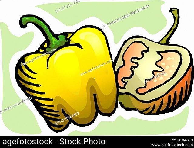 Illustration of a capsicums