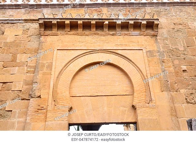 Door of Deanes, Moorish facade of the Great Mosque in Cordoba, Andalusia, Spain