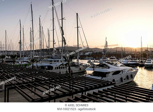 Marina of Port Blanc, Palma, Mallorca, Majorca, Balearic Islands, Mediterranean Sea, Spain, Europe