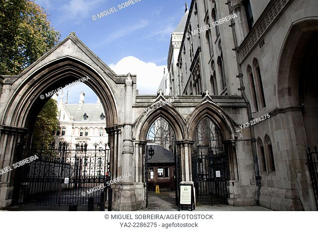 Royal Courts of Justice on the Strand in London UK