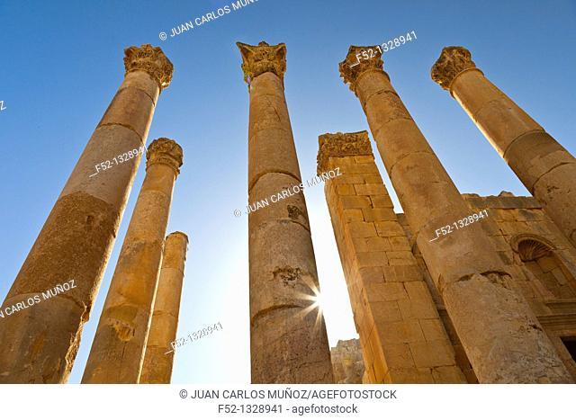 Zeus Temple, Greco-Roman city of Jerash, Jordan, Middle East