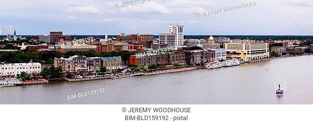 Savannah city waterfront, Georgia, United States