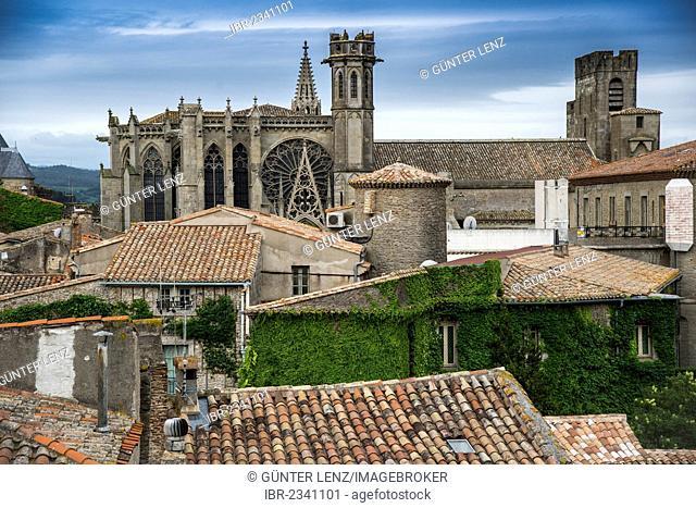 Cathedrale Sainte-Nazaire-et-Saint-Celse, Carcassonne, Languedoc-Roussillon, Aude, France, Europe