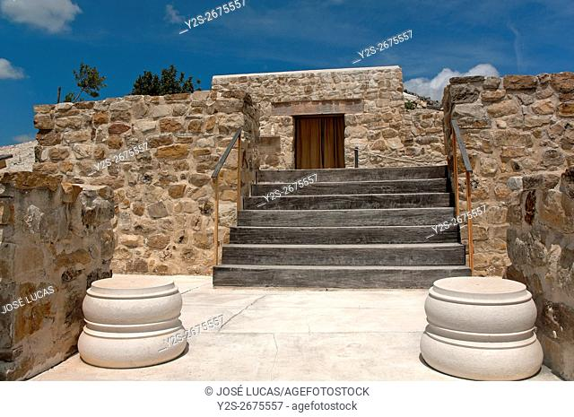 Torreparedones, iberian-roman archaeological park, Iberian Shrine-3th century BC, Baena, Cordoba province, region of Andalusia, Spain, Europe