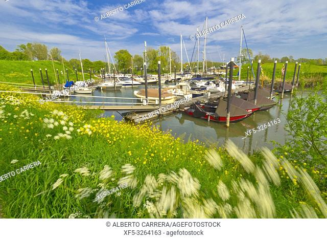 Historical Port, Woudrichem, Noord-Brabant Province, Holland, Netherlands, Europe