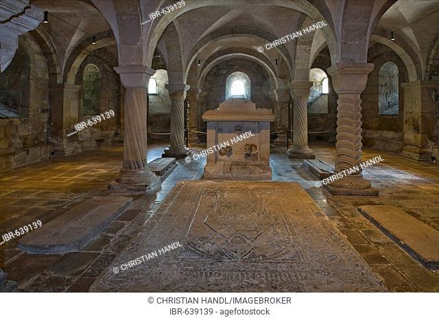 Romanesque crypt at Lund Cathedral dating to the twelfth-century, Lund, Scania, Sweden, Scandinavia, Europe