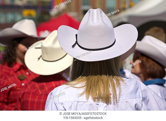 People wearing Stetsons, Calgary Stampede, Alberta, Canada