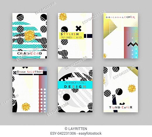 Fashionable original cover. Stylish business card. Design template bright solution, creative frame surface. Abstract composition, error texture