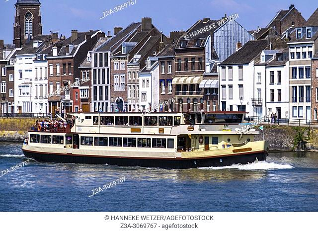 Ship over the river Maas in Maastricht, Limburg, The Netherlands, Europe