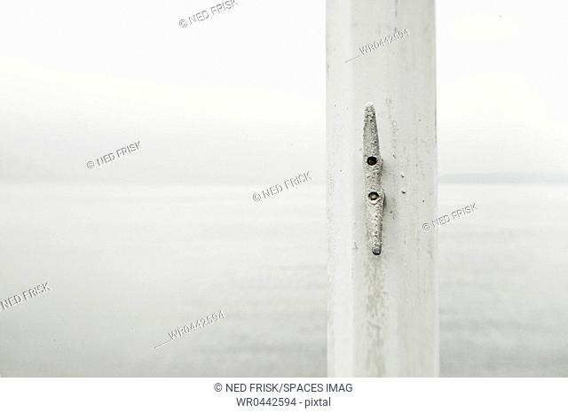 White Cleat on a Flagpole