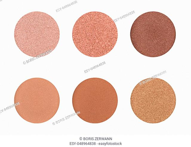 Eyeshadow palette on a white background - Browns