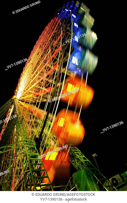 Lights and abstractions in the night fair