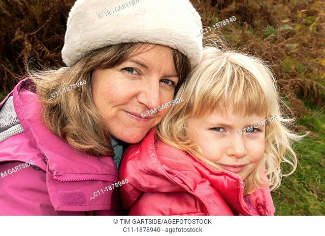 mother and daughter,grasmere,lake district,cumbria,england,uk,europe