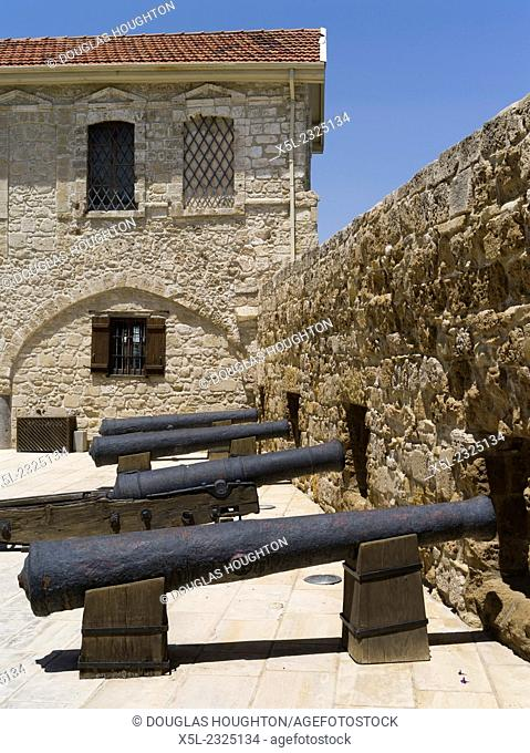 Larnaca fort LARNACA CYPRUS Old Bristish cannons Larnaka fort