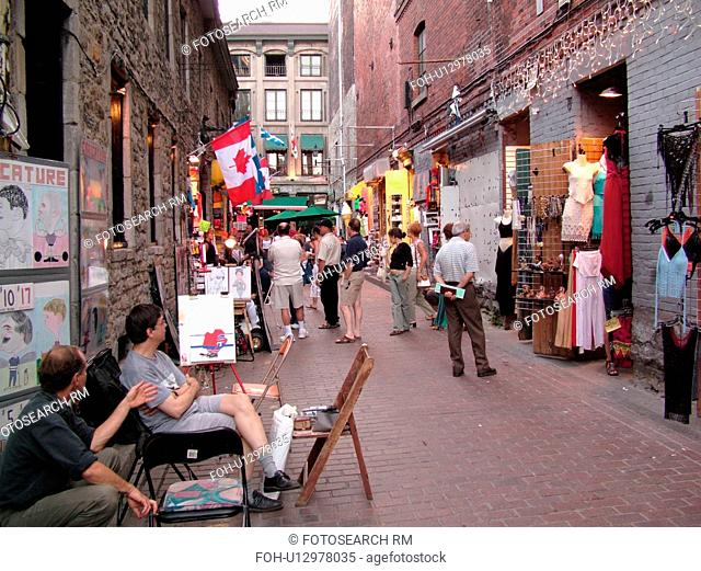 Montreal, Canada, QC, Quebec, Old Port, Old Montreal, Place Jacques Cartier, Rue Saint Amable