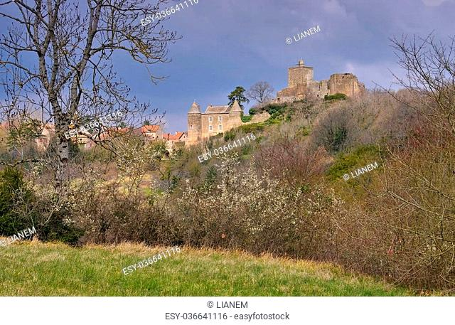 the town and castle Brancion in Burgundy, France