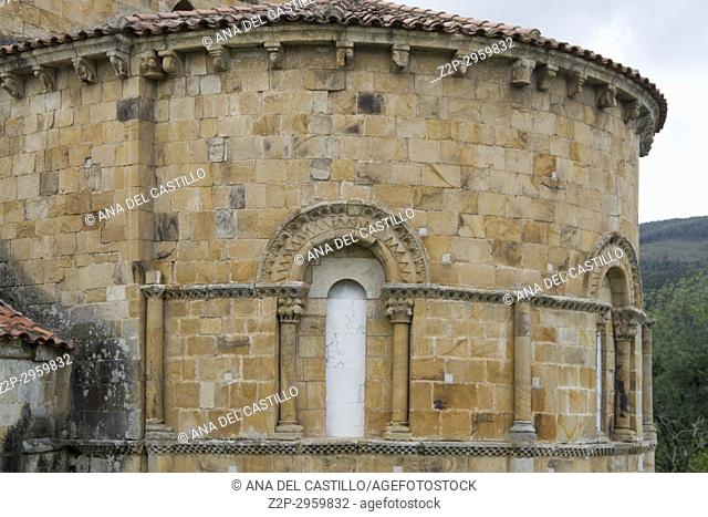 Castaneda Collegiate church . Cantabria, Spain. Romanesque apse