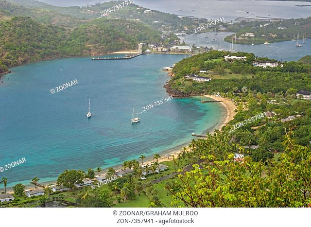 View Of English Harbour From Shirley Heights Antig
