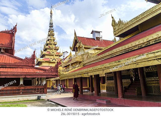 Mandalay Royal Palace in Mandalay Myanmar