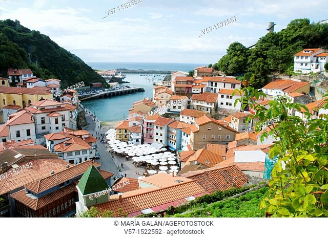 Overview. Cudillero, Asturias province, Spain