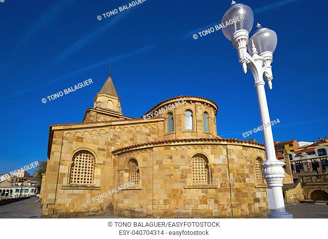 Gijon San Pedro church in Asturias Spain