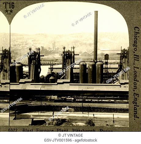 Steel Plant, Pittsburgh, Pennsylvania, USA, Circa 1905