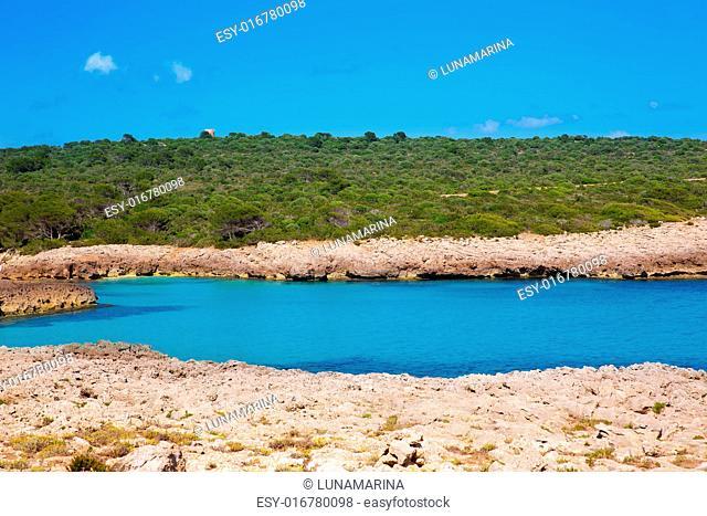Menorca Cala des Talaier beach in Ciutadella at Balearic islands