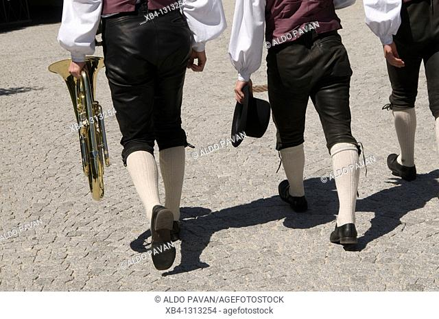 Italy, Bressanone, Brixen, musicians in traditional dress