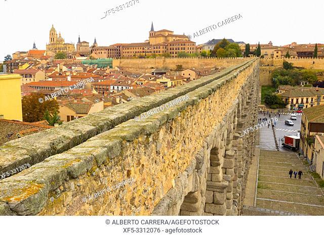 Roman Aqueduct of Segovia, 1st Century A. D. , World Monument Fund, Segovia, UNESCO World Heritage Site, Castilla y León, Spain, Europe